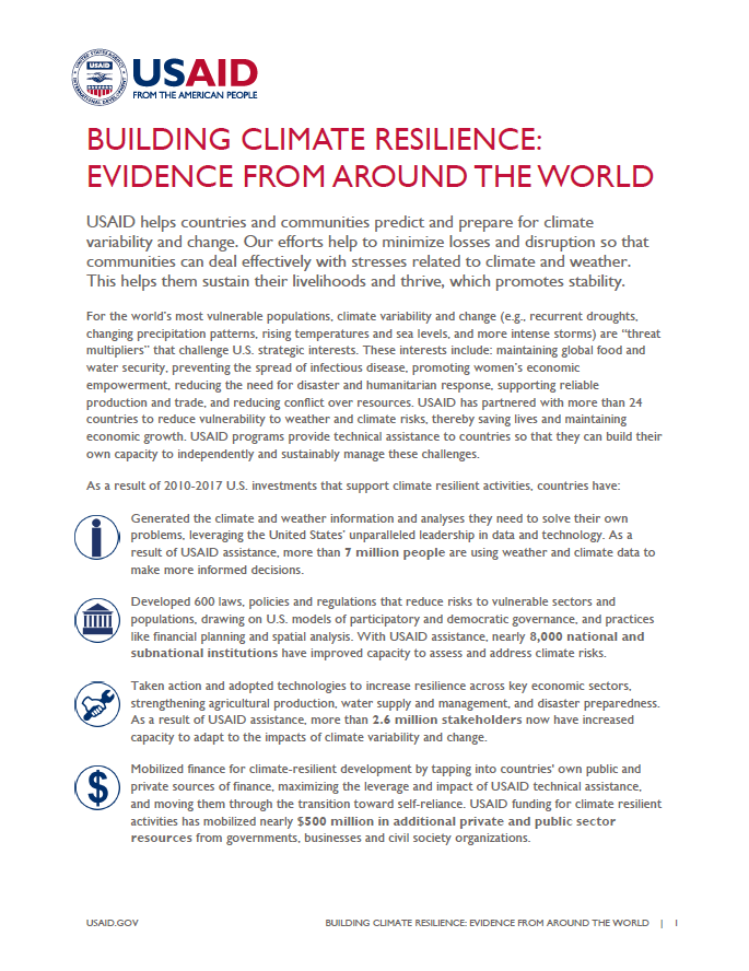 Building Climate Resilience: Evidence from Around the World