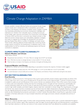 Climate Change Adaptation In Zambia Fact Sheet Global