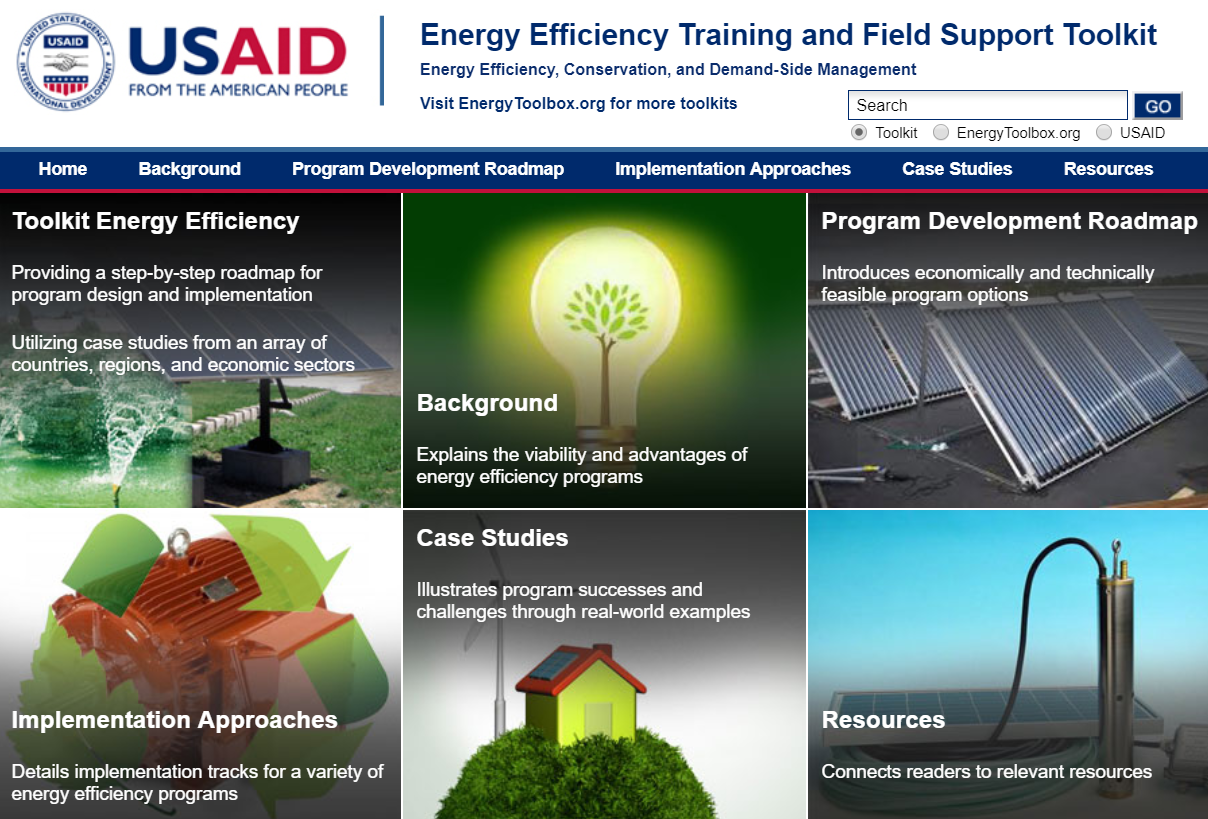 Energy Efficiency Training and Field Support Toolkit