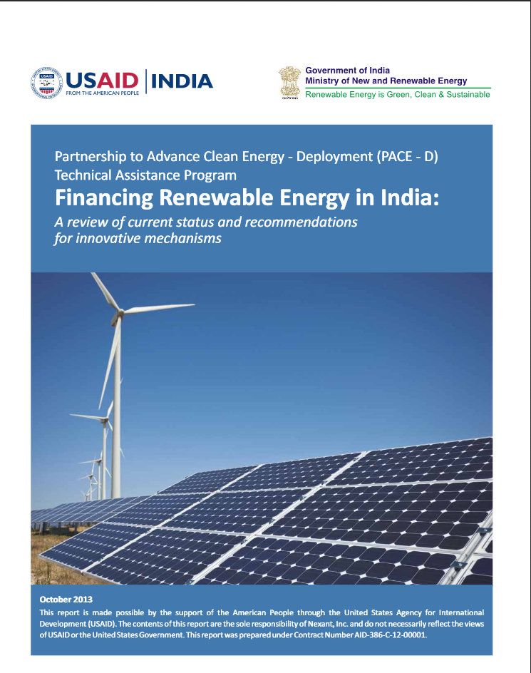 Financing Renewable Energy in India: A Review of Current Status and