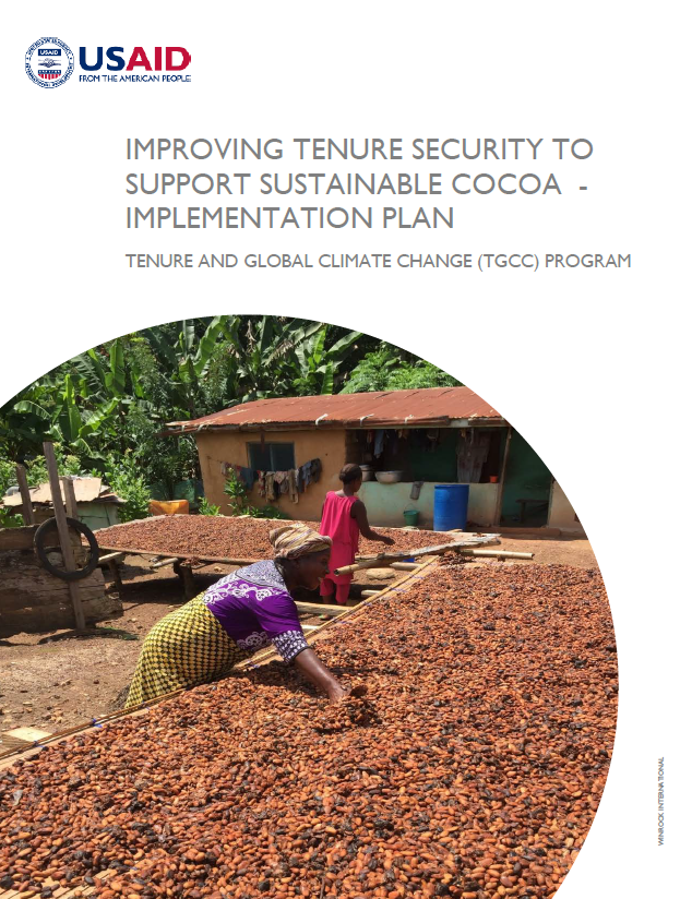 Improving Tenure Security to Support Sustainable Cocoa - Implementation Plan