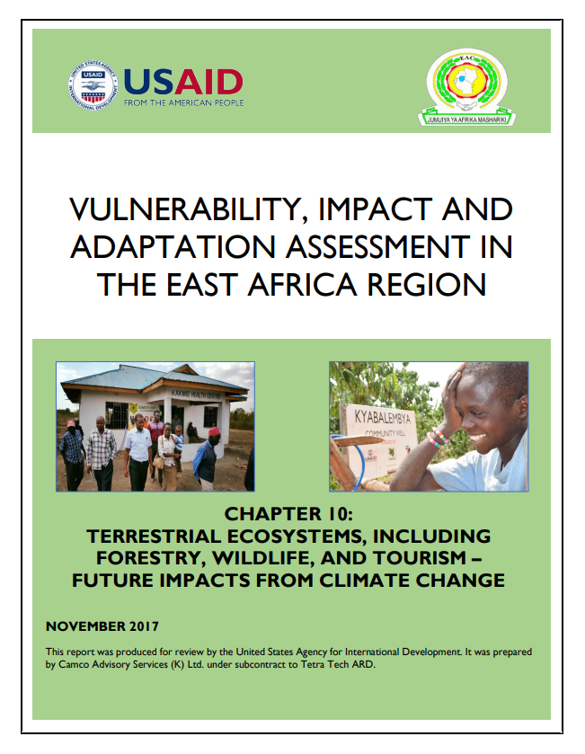 Vulnerability, Impacts and Adaptation Assessment in the East Africa Region: Terrestrial Ecosystems, Including Forestry, Wildlife, and Tourism - Future Impacts from Climate Change
