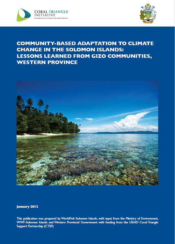Community-Based Adaptation to Climate Change in the Solomon Islands: Lessons Learned from Gizo Communities, Western Province