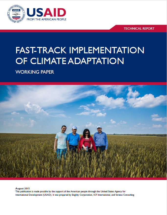 Fast-Track Implementation of Climate Adaptation