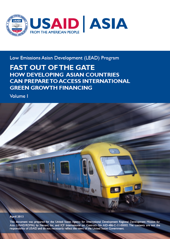 Fast Out of the Gate: How Developing Asian Countries Can Prepare to Access International Green Growth Financing - Volume I