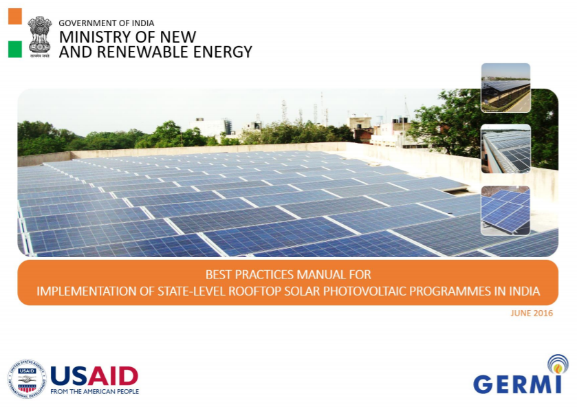Best Practices Manual for Solar Rooftop in India | Global Climate Change