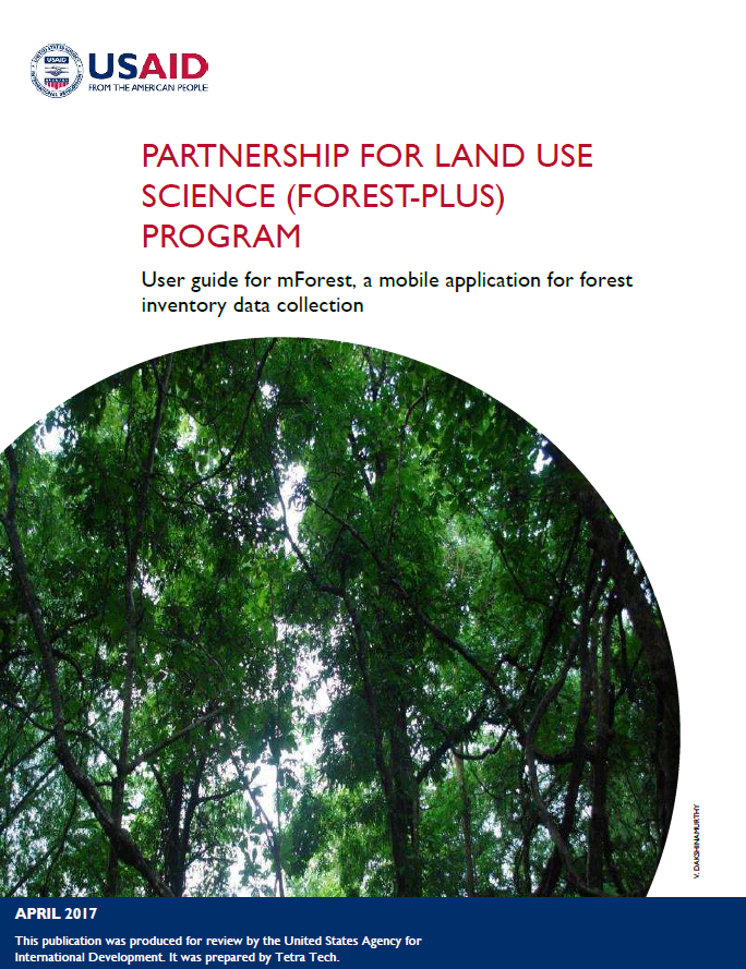 Partnership for Land Use Science (Forest-PLUS) Program: User Guide for mForest