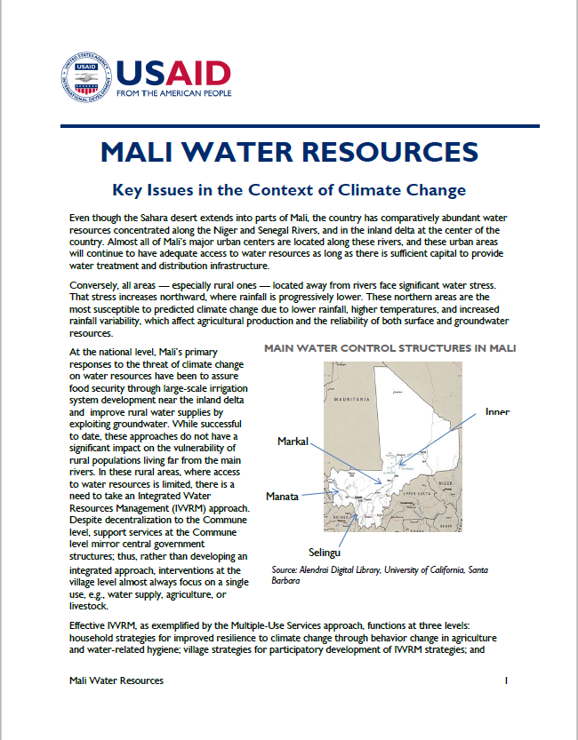 Water Resources in Mali