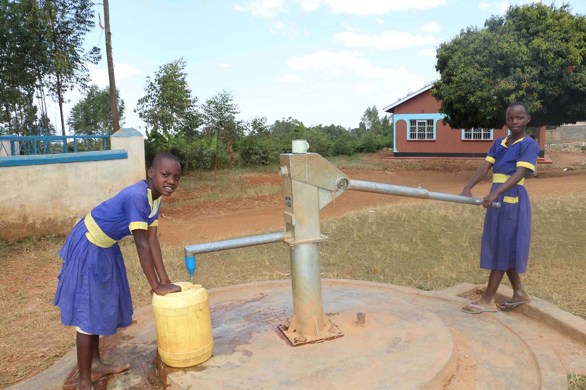 Access to clean water helps school children stay healthy