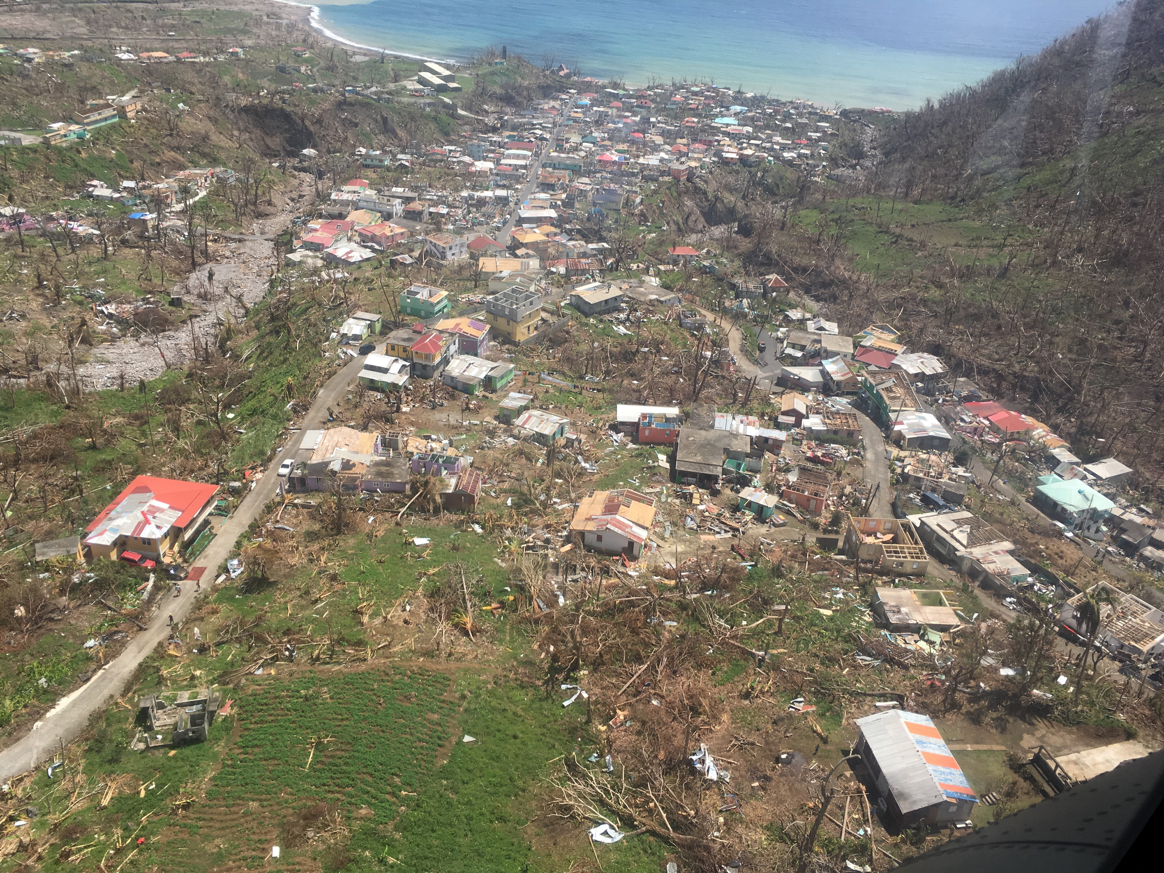 Hurricane Maria, a Category 5 storm, made landfall on the island of Dominica on September 18, 2017, causing widespread devastation.