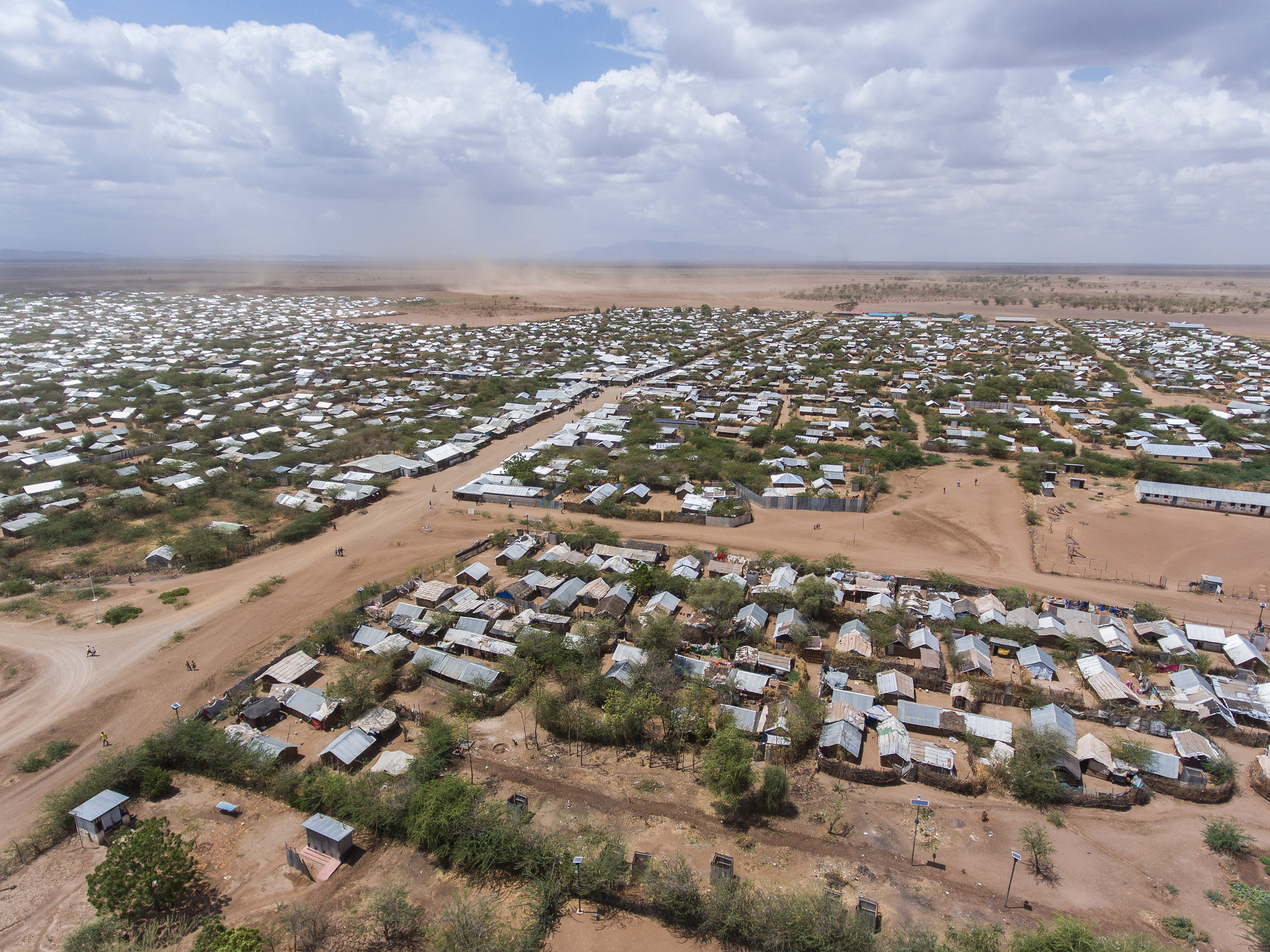 An aerial view of a section of Kakuma Refugee Camp.