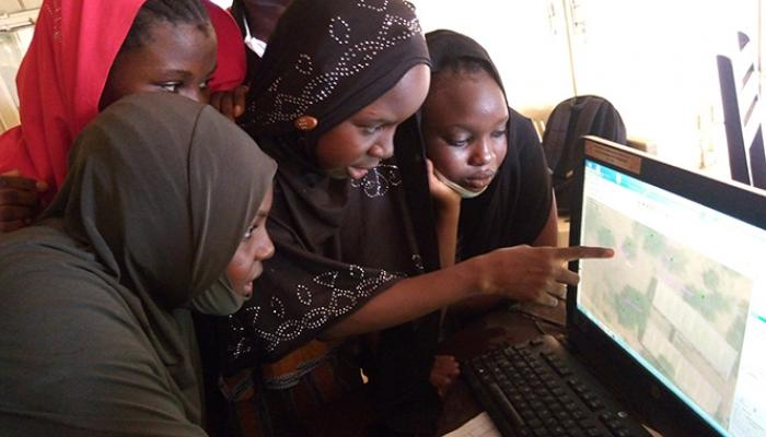 Digital mapping workshops are another activity offered through SERVIR West Africa's mentoring program.