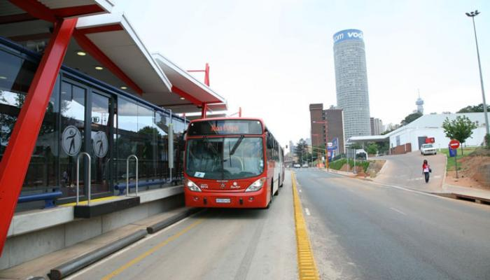 Bus in the City of Johannesburg