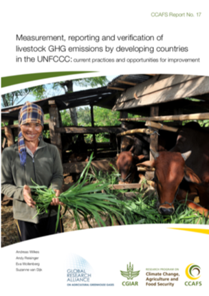 """Measurement, reporting, and verification of livestock GHG emissions by developing countries in the UNFCCC: current practices and opportunities for improvement"" report cover"