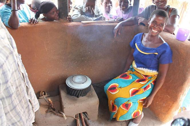 81% of Malawi's population cooks with firewood. 93% of Malawi's rural population relies on firewood. Fuel-efficient cookstove technologies (like the one in the photo) reduce the demand for rural firewood.