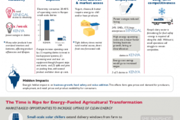 Clean and Renewable Energy for Productive Use: Spotlight on Dairy (Infographic)
