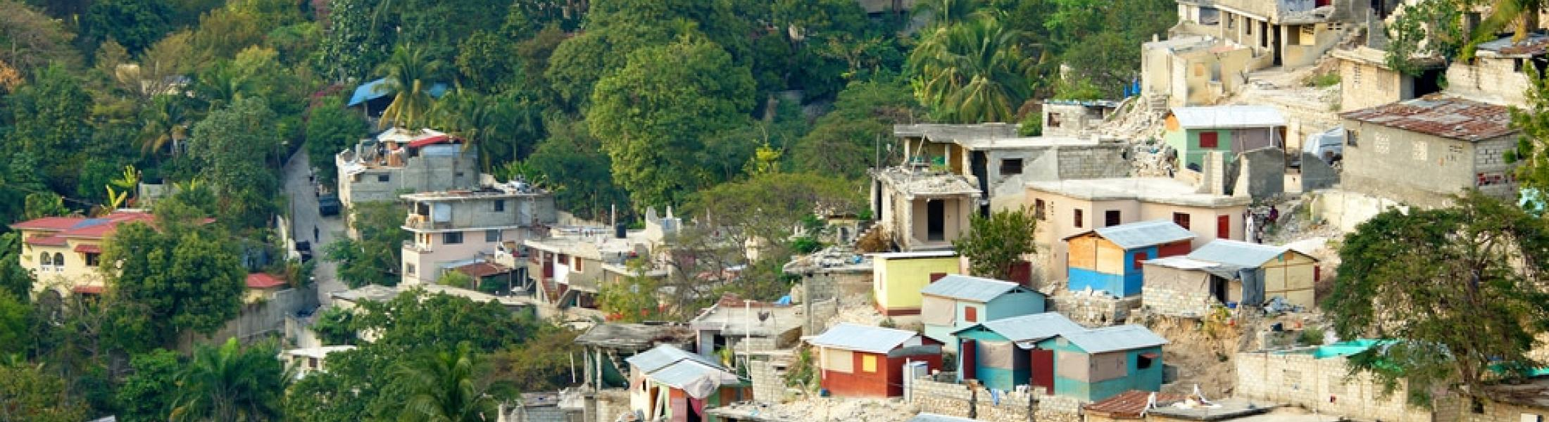 Mountainside village in Haiti