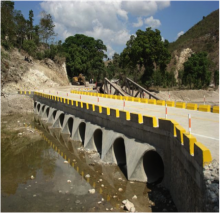 Newly constructed Ennery bridge in Haiti.