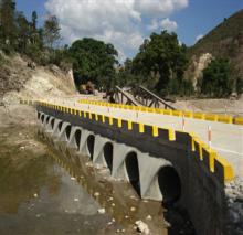 Newly constructed Ennery bridge in Haiti.