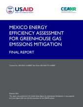 Mexico Energy Efficiency Assessment for GHG Emissions Mitigation