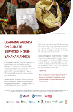 Learning Agenda on Climate Information Services in Sub-Saharan Africa