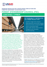 Enabling Private Sector Climate-Smart Agriculture and Forestry Investment in Southeast Asia: Forest Stewardship Council (FSC)