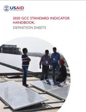 GCC Standard Indicator Handbook
