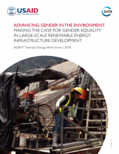 Advancing Gender in the Environment: Making the Case for Gender Equality in Large-Scale Renewable Energy Infrastructure Development