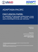 An Assessment of Specialized International Funds with Available Resources for Climate Change Adaptation in Asia and the Pacific