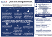 Health gains threatened by climate variability and change in Sub-Saharan Africa (infographic) - French