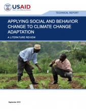 Applying Social and Behavior Change to Climate Change Adaptation: A Literature Review photo