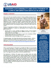 Assessing Sustainability and Effectiveness of Climate Information Services in Africa
