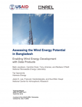Assessing the Wind Energy Potential in Bangladesh: Enabling Wind Energy Development with Data Products Photo