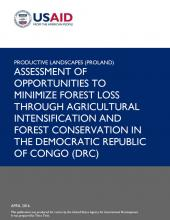 Assessment of Opportunities to Minimize Forest Loss in DRC cover image