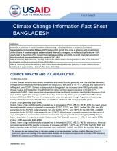 Climate Information Factsheet: Bangladesh