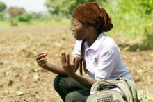 Woman farmer photo