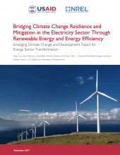 : Bridging Climate Change Resilience and Mitigation in the Electricity Sector Through Renewable Energy and Energy Efficiency Photo
