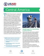 Briefer: CEADIR Support for Clean Energy in Central America