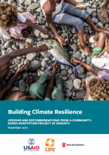 Building Climate Resilience: Lessons and Recommendations from a Community-Based Adaptation Project in Vanuatu