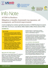 Info Note: ACCESO in Honduras: Mitigation co-benefits of perennial crop expansion, soil management, and livestock improvements