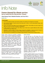 Info Note: Farmer Demand for Climate Services