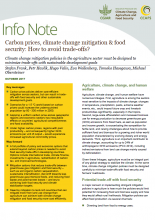 Info Note: Carbon prices, climate change mitigation and food security