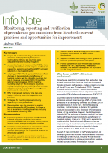Monitoring, reporting and verification of greenhouse gas emissions from livestock