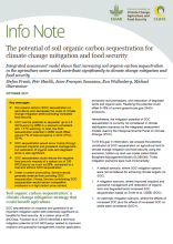 Info Note: The potential of soil organic carbon sequestration for climate change mitigation and food security