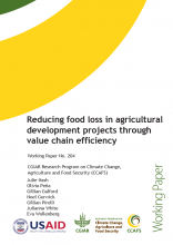 CCAFS Reducing food loss in agricultural development projects through value chain efficiency