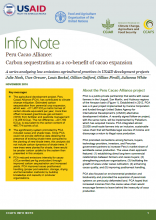 Peru Cacao Alliance: Carbon sequestration as a co-benefit of cacao expansion