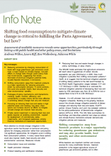 Shifting food consumption to mitigate climate change is critical to fulfilling the Paris Agreement, but how?