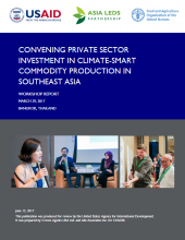 Convening Private Sector Investment in Climate-Smart Commodity Production in Southeast Asia