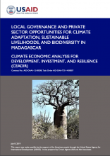 Local Governance and Private Sector Opportunities for Climate Adaptation Sustainable Livelihoods and Biodiversity in Madagascar photo