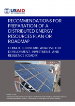 Recommendations for Preparation of a Distributed Energy Resources Plan or Roadmap photo